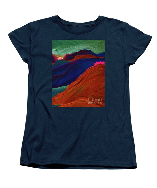 Women's T-Shirt (Standard Cut) featuring the painting Sunrise Castle 2  by First Star Art