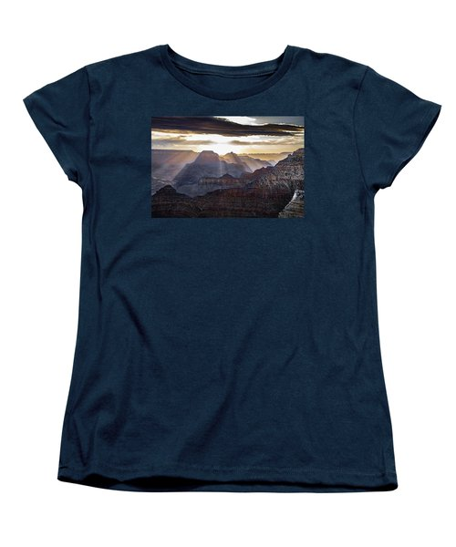 Women's T-Shirt (Standard Cut) featuring the photograph Sunrise Grand Canyon by Phil Abrams