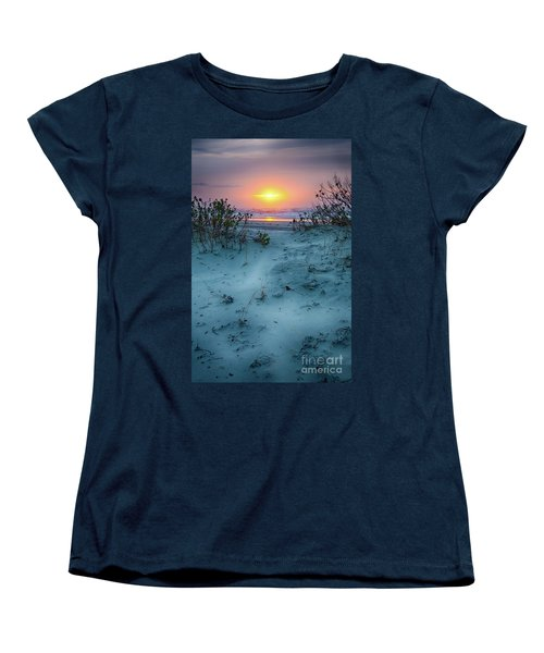 Women's T-Shirt (Standard Cut) featuring the photograph Sunrise Hike On The Outer Banks by Dan Carmichael