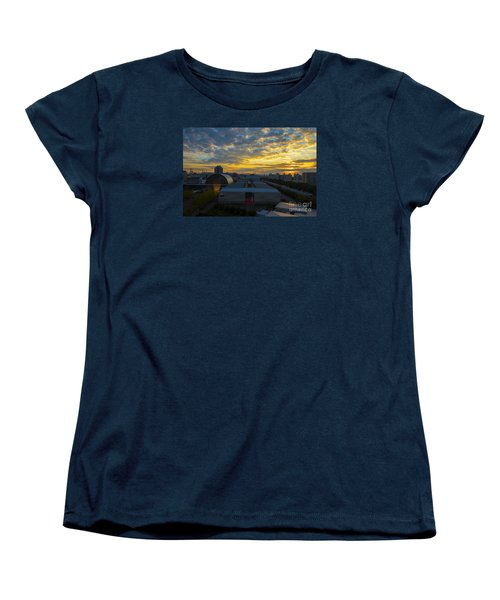Women's T-Shirt (Standard Cut) featuring the photograph Sunrise In Osaka by Pravine Chester