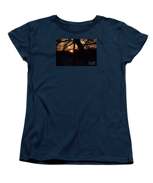 Women's T-Shirt (Standard Cut) featuring the photograph Sunrise In The Woods by Mark McReynolds