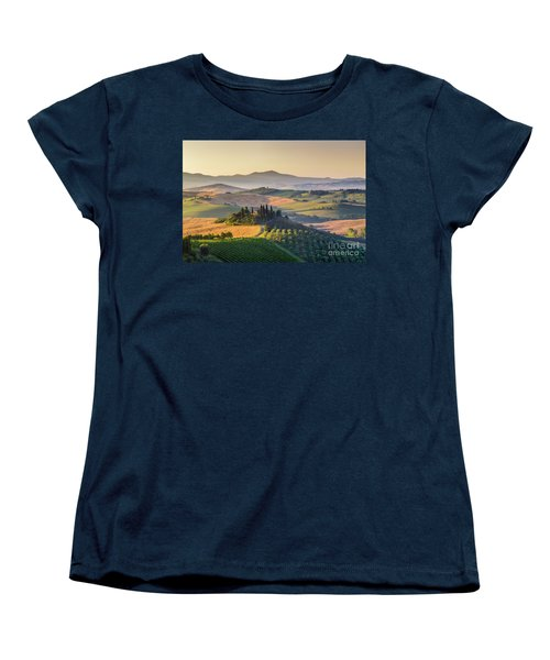 Sunrise In Tuscany Women's T-Shirt (Standard Cut) by JR Photography