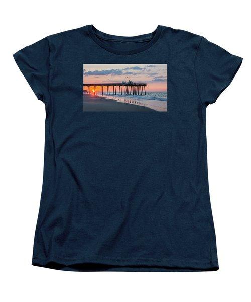 Sunrise Ocean City Fishing Pier Women's T-Shirt (Standard Cut)