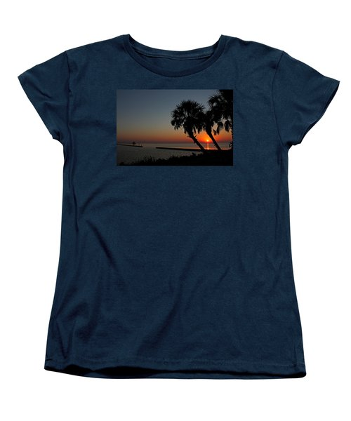 Women's T-Shirt (Standard Cut) featuring the photograph Sunrise On Pleasure Island by Judy Vincent
