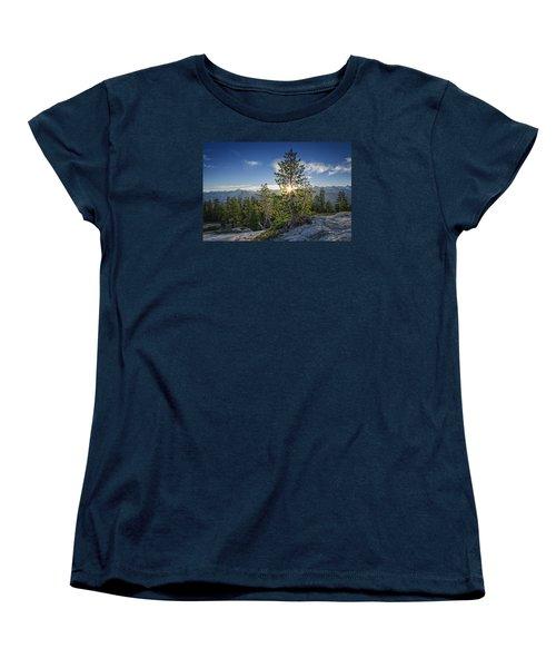 Sunrise On Sentinel Dome Women's T-Shirt (Standard Cut) by Rick Berk