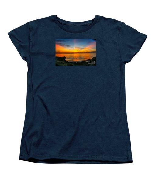 Sunrise On The Rocks Women's T-Shirt (Standard Cut) by Tom Claud