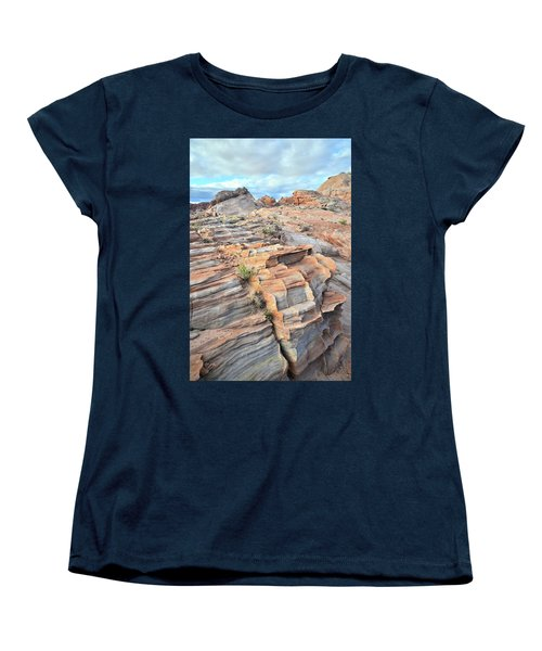 Sunrise On Valley Of Fire Women's T-Shirt (Standard Cut) by Ray Mathis