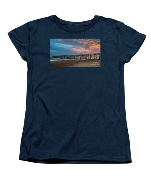 Sunset Over The Atlantic Women's T-Shirt (Standard Cut) by Scott and Dixie Wiley