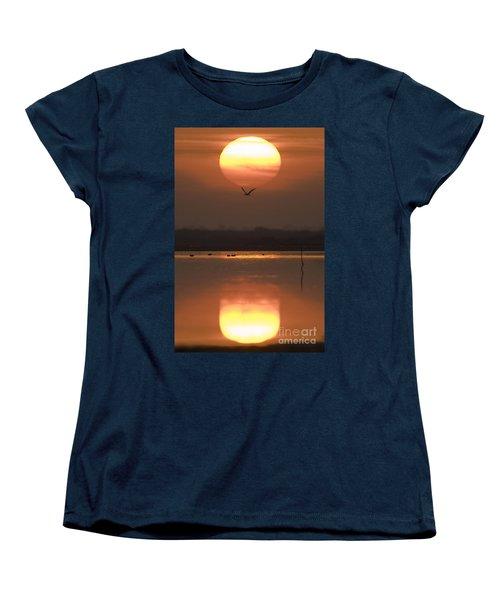 Sunrise Reflection Women's T-Shirt (Standard Cut) by Hitendra SINKAR