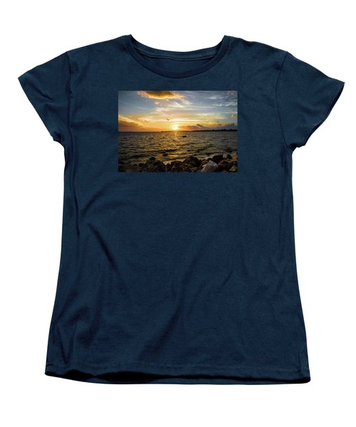 Women's T-Shirt (Standard Cut) featuring the photograph Sunset At Cedar Key by Rebecca Hiatt