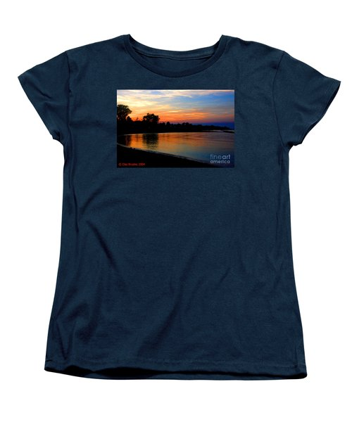Sunset At Colonial Beach Cove Women's T-Shirt (Standard Cut) by Clayton Bruster