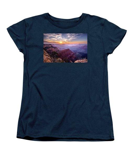 Sunset At Grand Canyon Women's T-Shirt (Standard Cut) by Daniel Heine