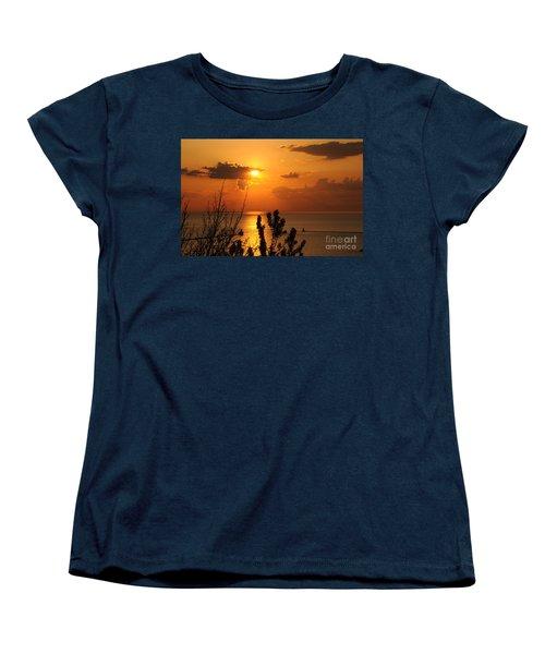 Sunset At Lake Huron Women's T-Shirt (Standard Cut) by Joe  Ng