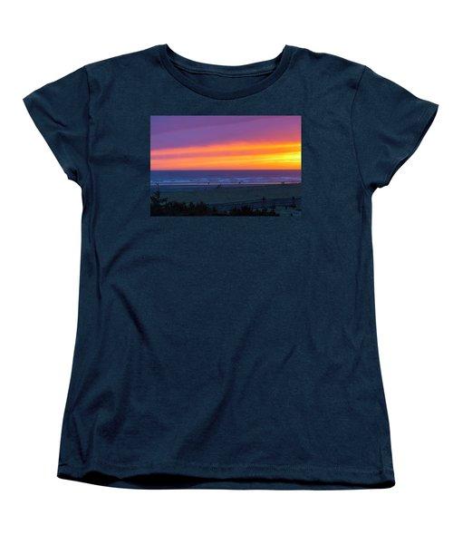 Sunset At Long Beach Washington Women's T-Shirt (Standard Fit)