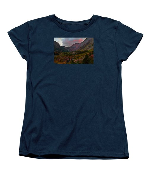 Sunset At Lundy Canyon During Autumn In The Eastern Sierras Women's T-Shirt (Standard Cut) by Jetson Nguyen