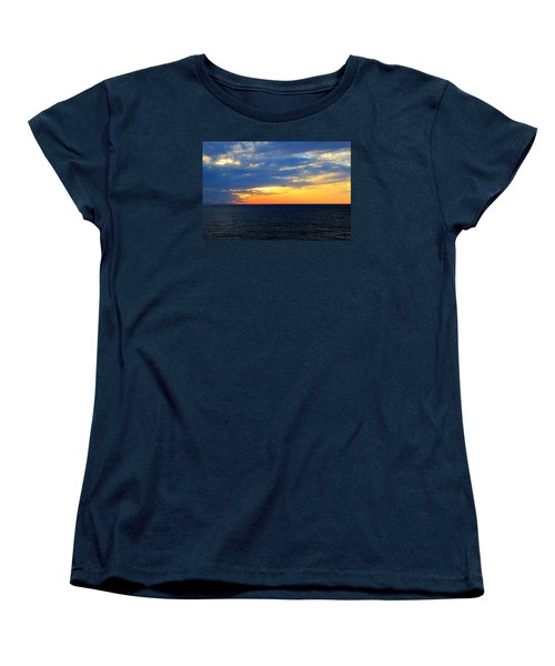 Women's T-Shirt (Standard Cut) featuring the photograph Sunset At Sail Away by Shelley Neff