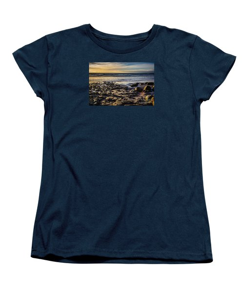 Women's T-Shirt (Standard Cut) featuring the photograph Sunset At The Beach by Randy Bayne
