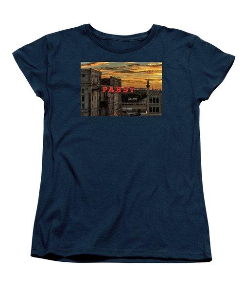 Sunset At The Brewery Women's T-Shirt (Standard Cut) by Randy Scherkenbach