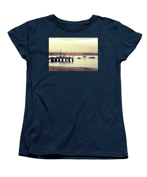 Women's T-Shirt (Standard Cut) featuring the photograph Sunset By The Sea by Marion McCristall