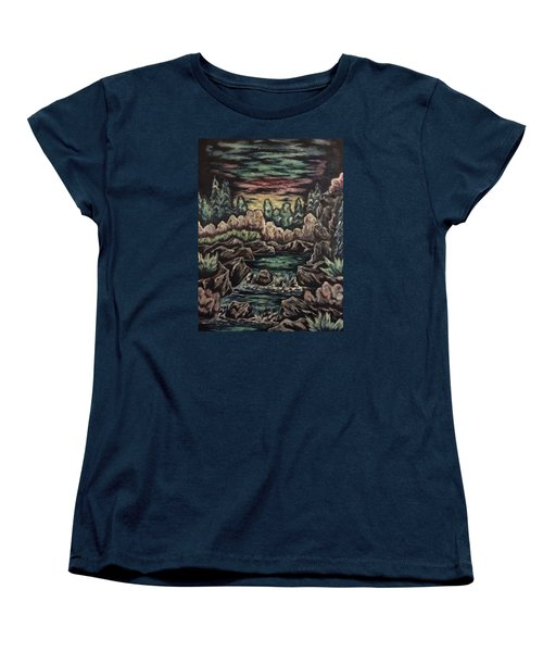 Sunset Women's T-Shirt (Standard Cut) by Cheryl Pettigrew