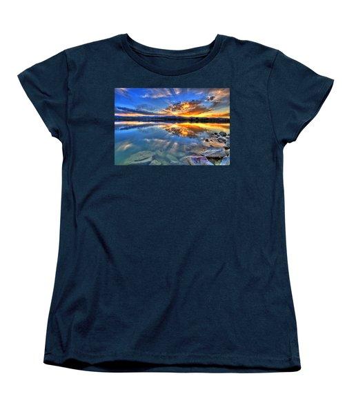 Sunset Explosion Women's T-Shirt (Standard Cut) by Scott Mahon