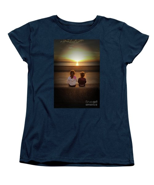 Sunset Sisters Women's T-Shirt (Standard Cut) by Lynn Bolt