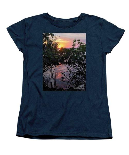 Women's T-Shirt (Standard Cut) featuring the photograph Sunset, Hutchinson Island, Florida  -29188-29191 by John Bald