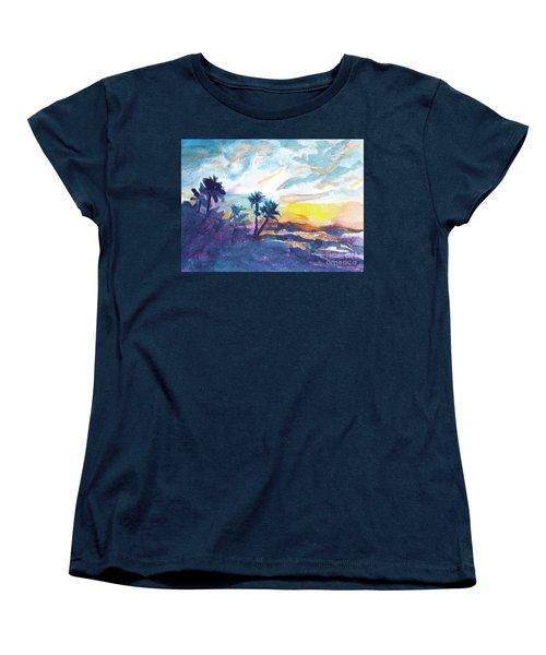 Sunset In Hawaii Women's T-Shirt (Standard Cut) by Jan Bennicoff