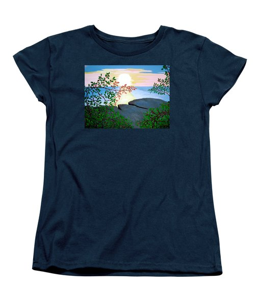 Women's T-Shirt (Standard Cut) featuring the painting Sunset In Jamaica by Stephanie Moore