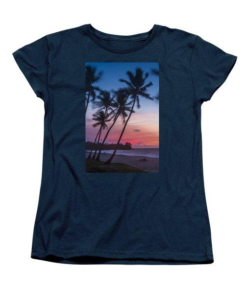 Sunset In Paradise Women's T-Shirt (Standard Cut) by Alex Lapidus