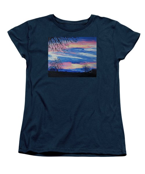 Sunset In The Country Women's T-Shirt (Standard Cut) by Lisa Rose Musselwhite