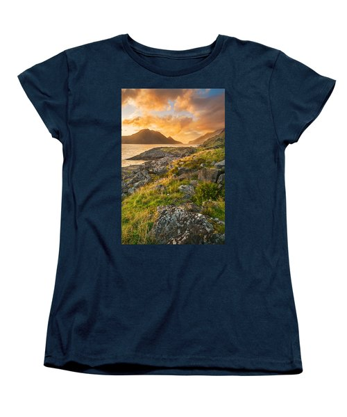 Sunset In The North Women's T-Shirt (Standard Cut) by Maciej Markiewicz