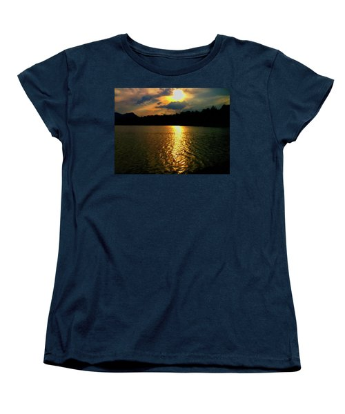 Women's T-Shirt (Standard Cut) featuring the digital art Sunset In The Smoky Mountains 1 by Chris Flees
