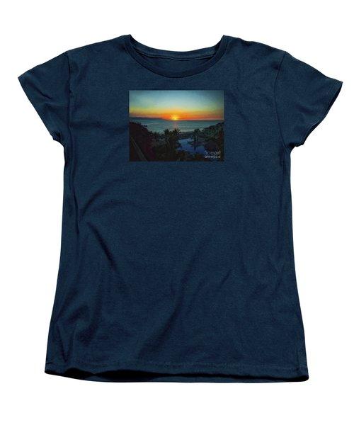 Sunset In Vallarta  ... Women's T-Shirt (Standard Cut) by Chuck Caramella