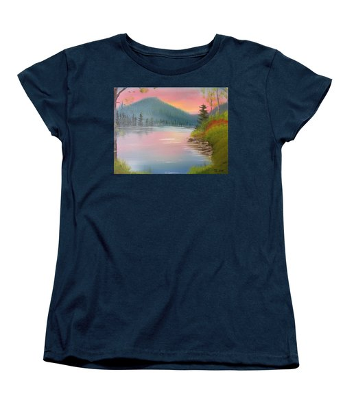 Sunset Lake Women's T-Shirt (Standard Cut)