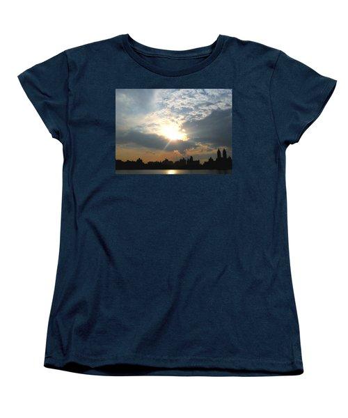 Women's T-Shirt (Standard Cut) featuring the photograph Sunset New York  by Vannetta Ferguson