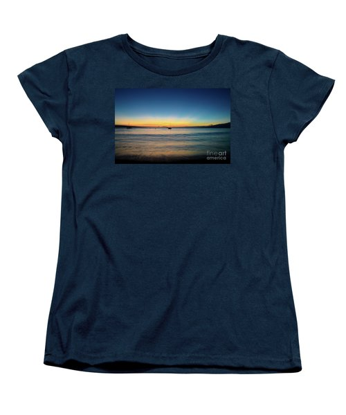 Women's T-Shirt (Standard Cut) featuring the photograph Sunset On Ka'anapali Beach by Kelly Wade