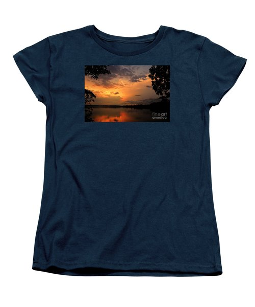 Women's T-Shirt (Standard Cut) featuring the photograph Sunset On Thomas Lake by Larry Ricker