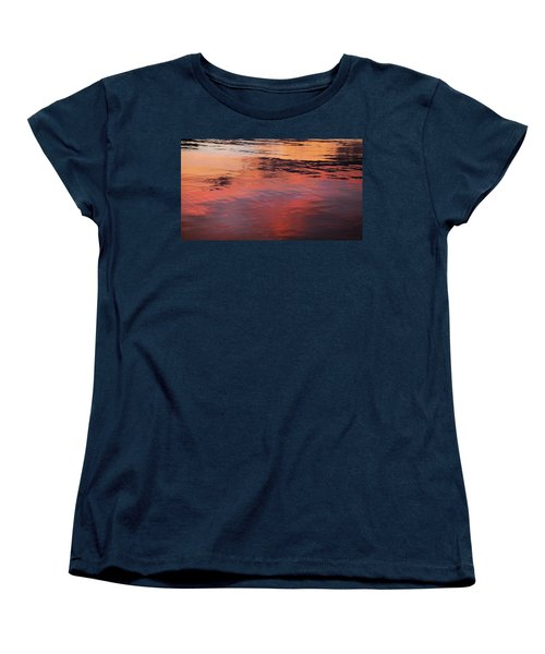 Sunset On Water Women's T-Shirt (Standard Cut) by Theresa Tahara