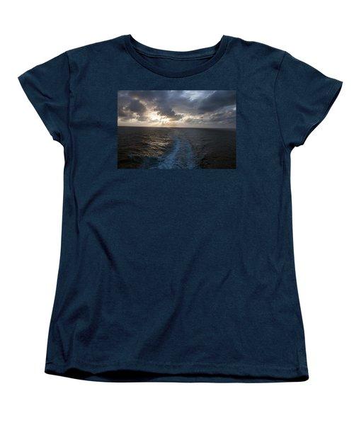 Sunset Over Fort Lauderdale Women's T-Shirt (Standard Cut) by Allen Carroll