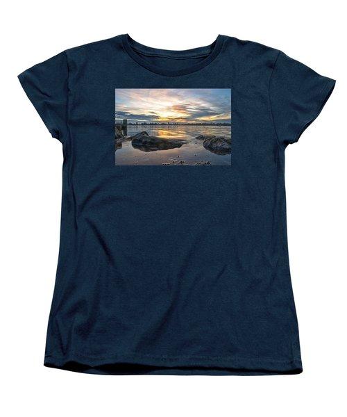 Sunset Over Lake Kralingen  Women's T-Shirt (Standard Cut) by Frans Blok