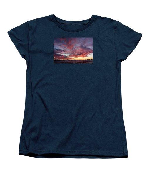 Manasquan Inlet Sunset    Women's T-Shirt (Standard Cut) by Melinda Saminski