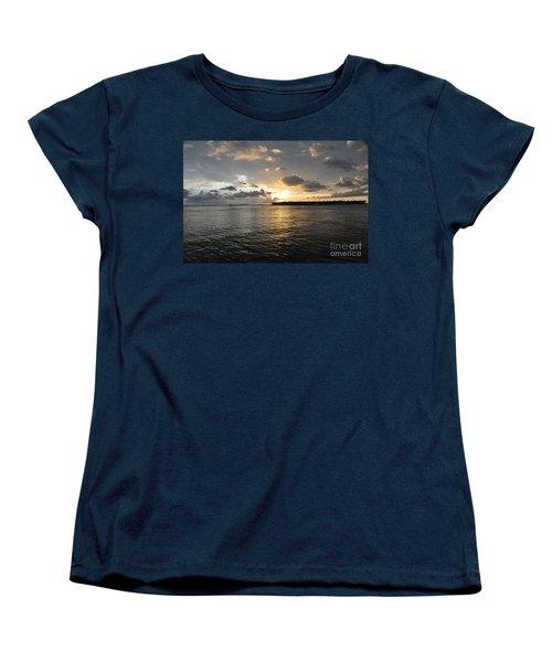Sunset Over Sunset Key Women's T-Shirt (Standard Cut) by John Black