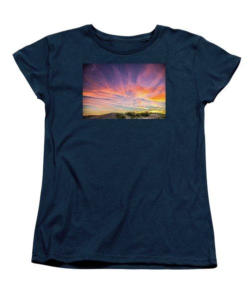 Women's T-Shirt (Standard Cut) featuring the photograph Sunset Over The Dunes by Vivian Krug Cotton