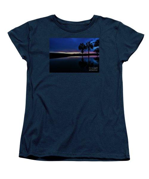 Women's T-Shirt (Standard Cut) featuring the photograph Sunset Palms by Brian Jones