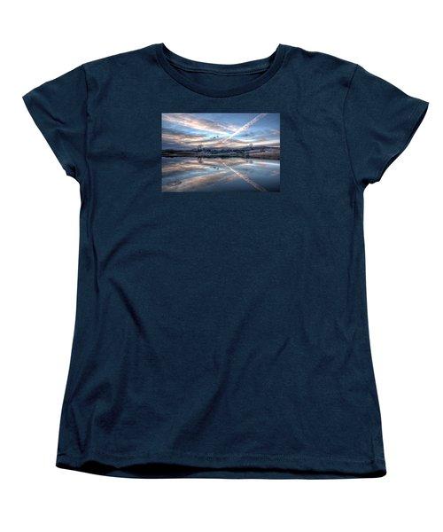 Sunset Reflection Women's T-Shirt (Standard Cut) by Fiskr Larsen