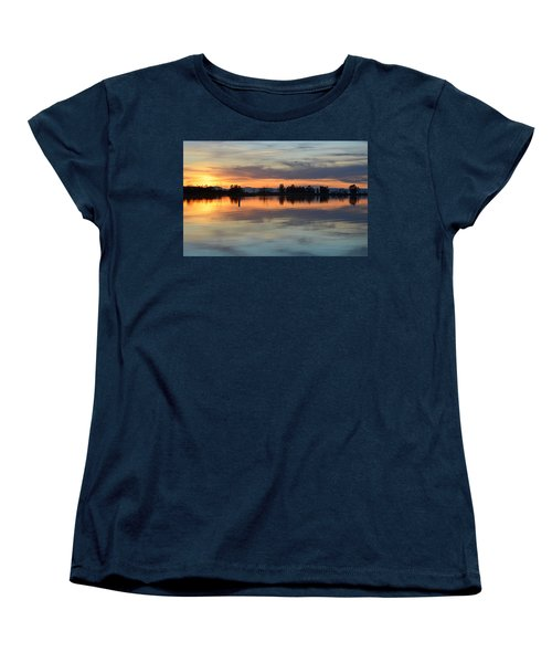 Sunset Reflections Women's T-Shirt (Standard Cut) by AJ Schibig