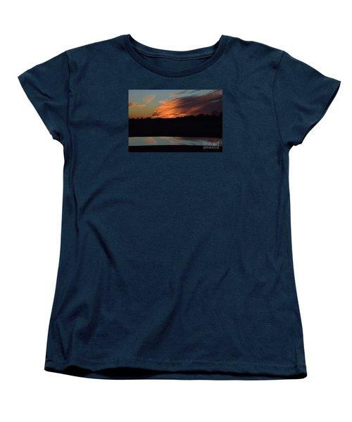 Women's T-Shirt (Standard Cut) featuring the photograph Sunset Reflections by Mark McReynolds