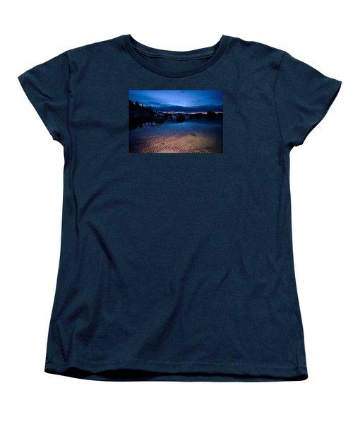 Sunset Sand Ripples Women's T-Shirt (Standard Cut) by Sean Sarsfield