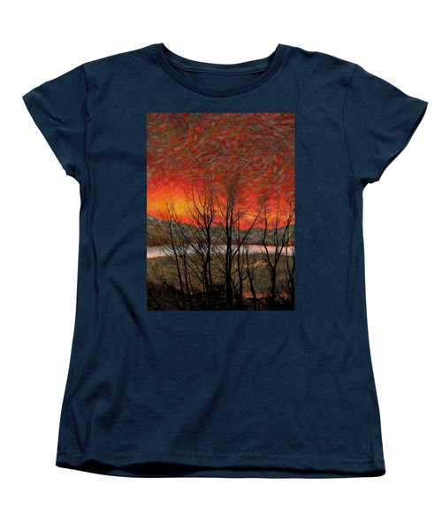 Sunset Soliloquy Women's T-Shirt (Standard Cut) by Ed Hall